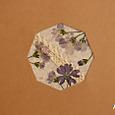 A5サイズの押し花ノート                ビオラ:パープル&レース