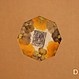 A5サイズの押し花ノート                ビオラ&アンティーク切手