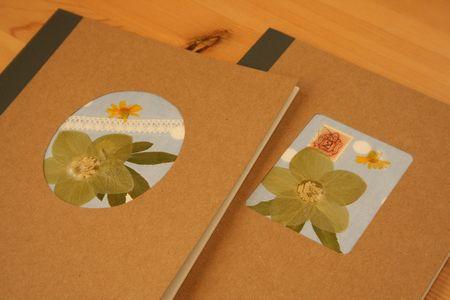 B5サイズの押し花ノート
