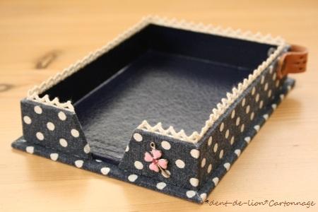 カルトナージュのメモBox*ネイビー
