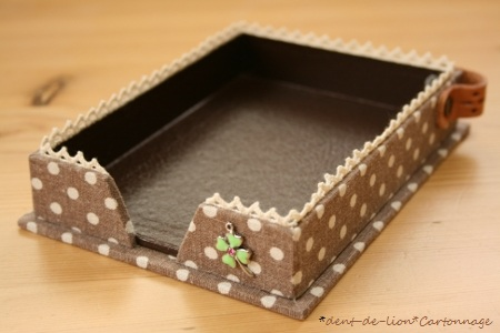カルトナージュのメモBox*ブラウン